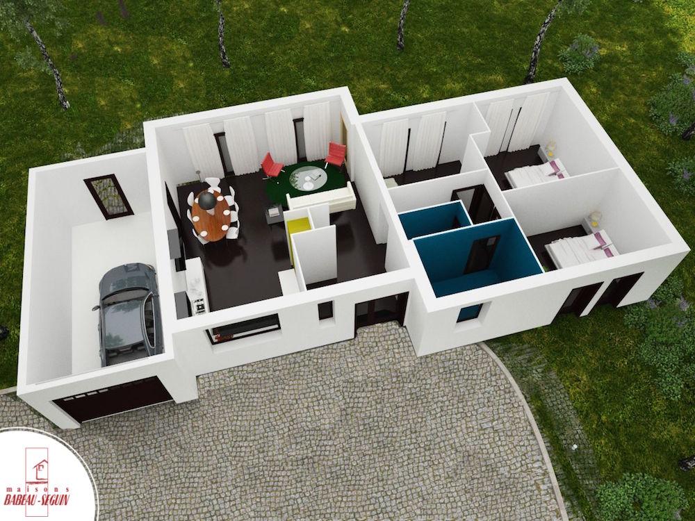 Plan de maison moderne 3d pdf - Idées de travaux