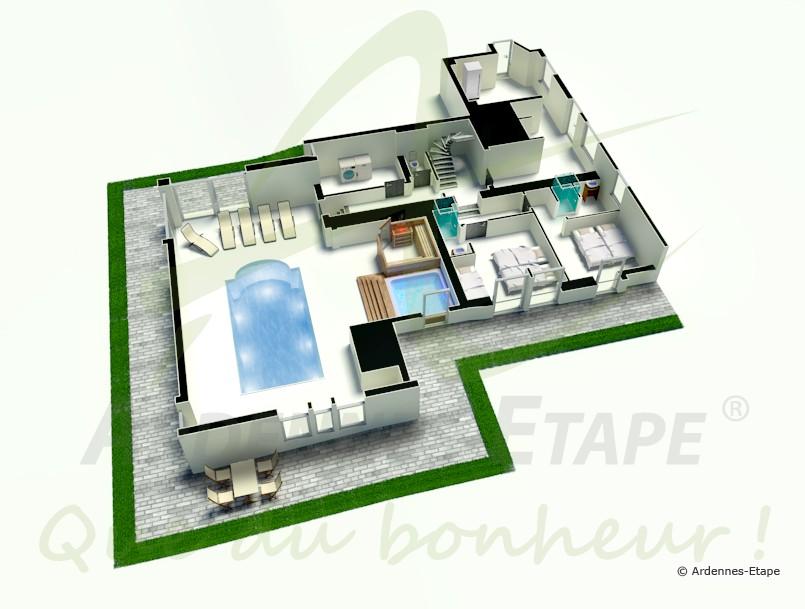Plan Maison De Luxe Avec Piscine Idees De Travaux