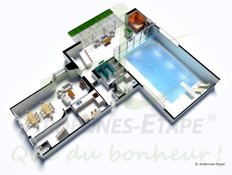 Plan villa de luxe avec piscine 3d id es de travaux for Plan de maison de luxe avec piscine