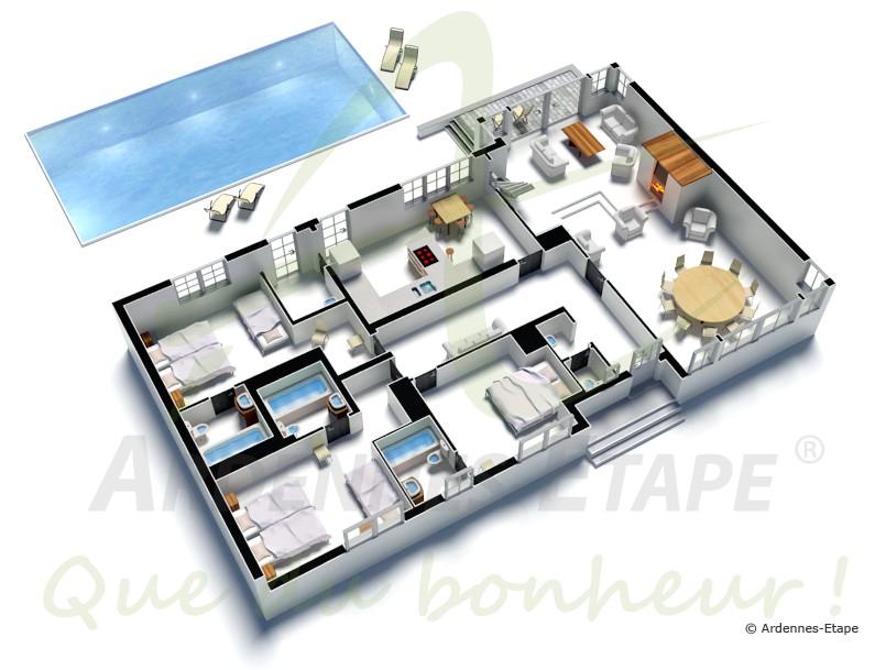 Plan de maison de luxe a etage - Idées de travaux