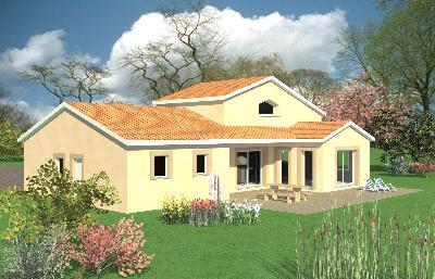 Plan de maison plain pied avec mezzanine - Idées de travaux