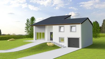 Plan de maison plain pied avec demi sous sol id es de travaux - Plan maison plain pied avec sous sol ...