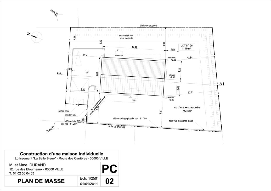 Dessiner plan de masse maison individuelle id es de travaux - Plan de masse maison individuelle ...