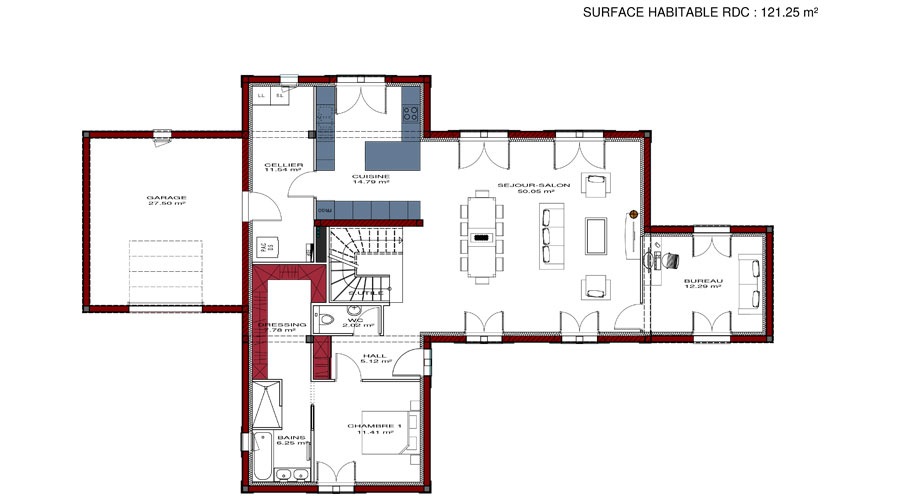 Plan de maison ecc