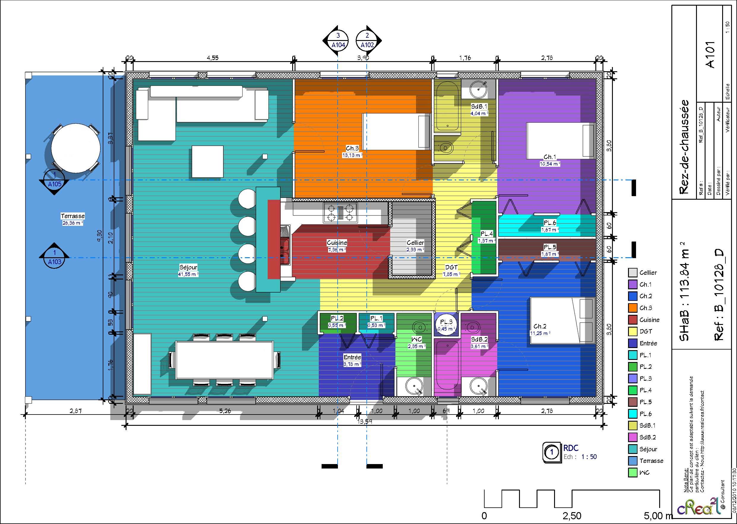 Superbe Www.plan De Maison Plain Pied