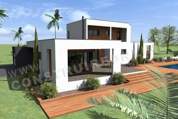 Plan De Maison Contemporaine A Etage