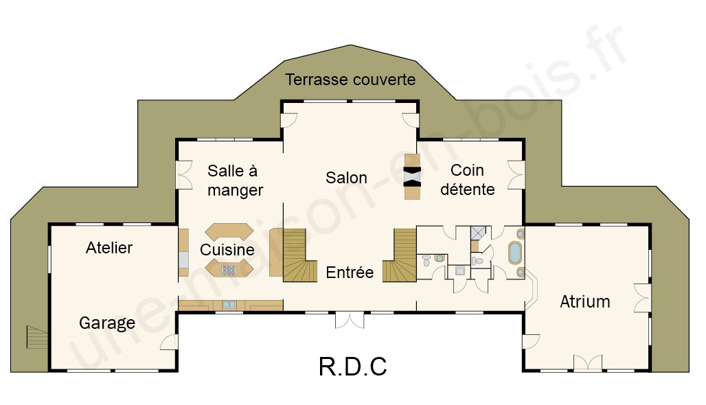 Plan de maison de riche - Idées de travaux