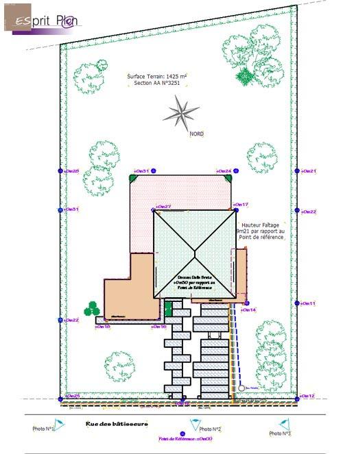 Exemple de plan de masse d une maison id es de travaux - Plan de masse d une maison ...