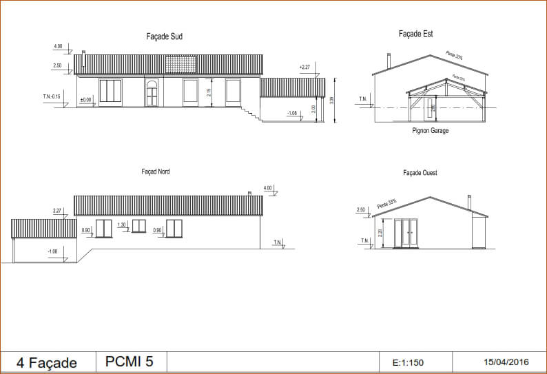 Exemple de plan de maison pour permis de construire id es de travaux - Plan pour construire maison ...