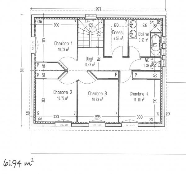 Exceptional Plan De Maison Avec 4 Chambre