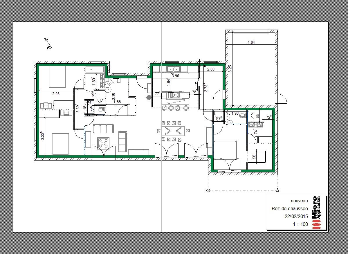8052c559b4b80d Plan maison plain pied architecte - Idées de travaux