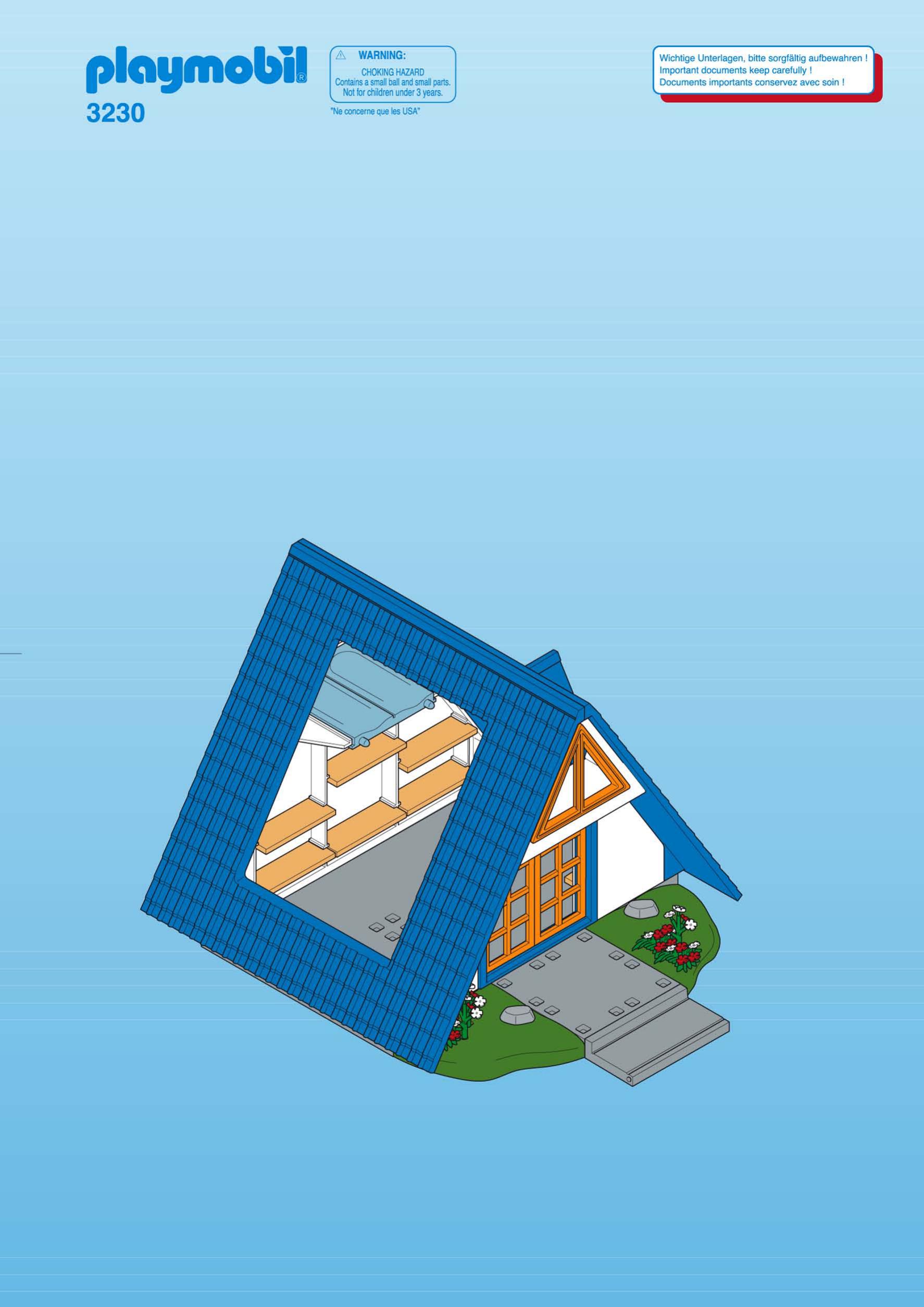 Plan de la maison de campagne playmobil - Idées de travaux
