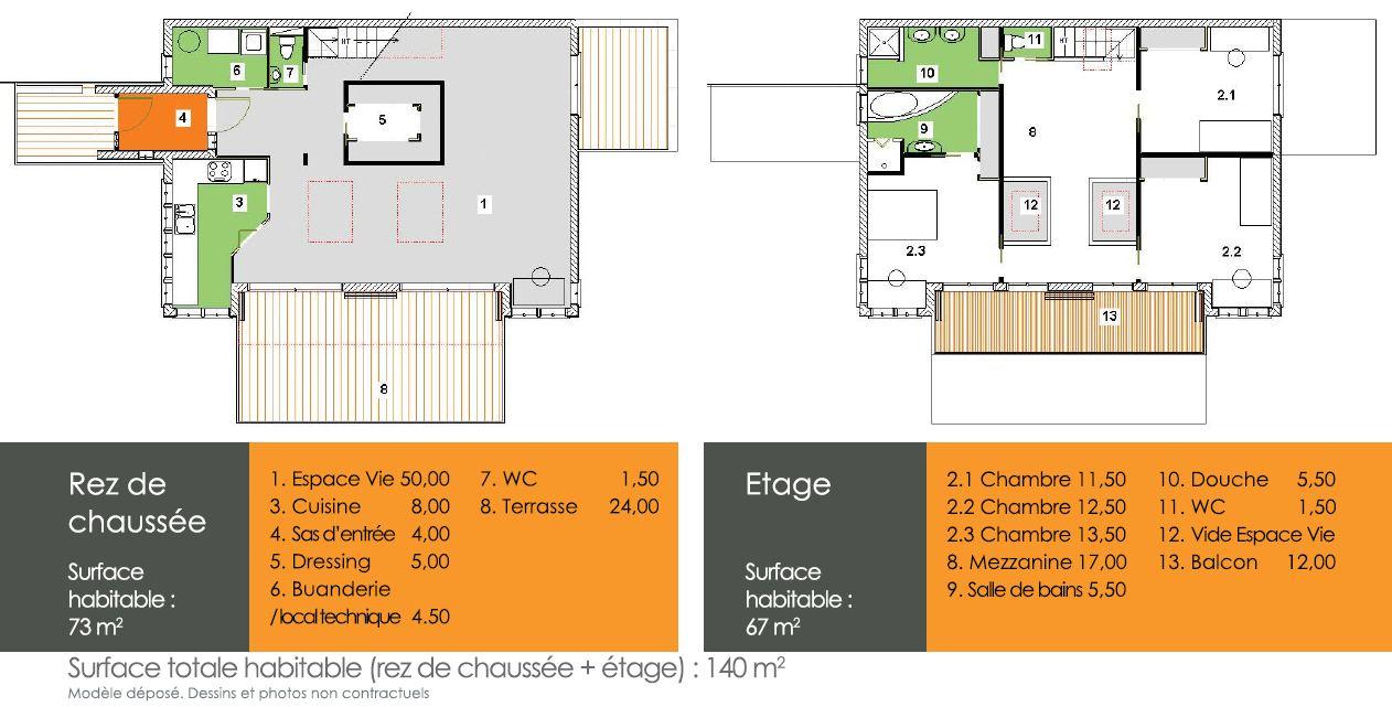 plan de maison basse consommation id es de travaux. Black Bedroom Furniture Sets. Home Design Ideas