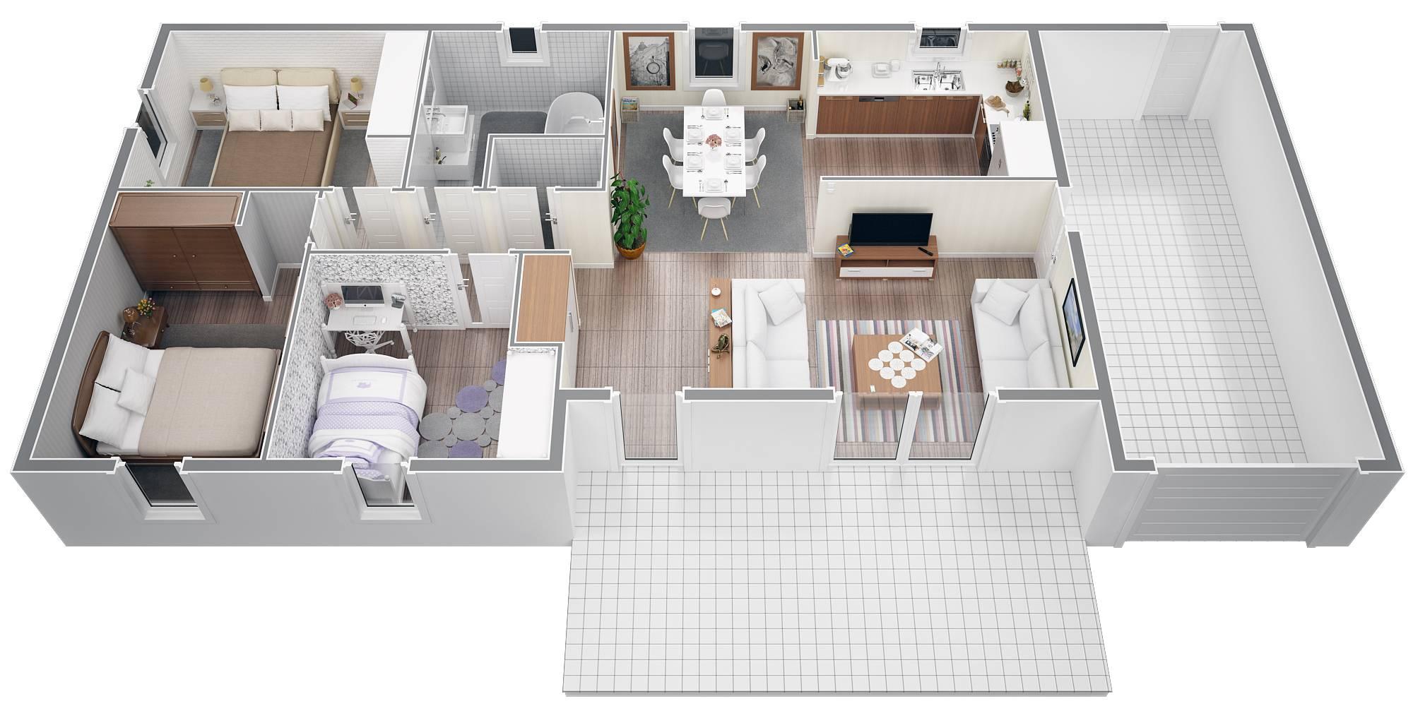 Modele de maison moderne plan - Idées de travaux