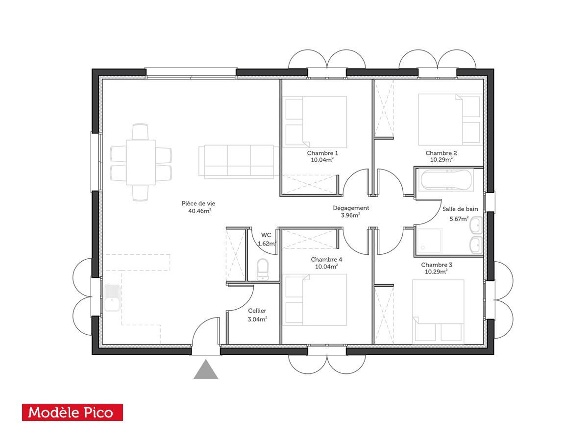Mod le plan de maison individuelle gratuit id es de travaux - Exemple de plan de maison gratuit ...