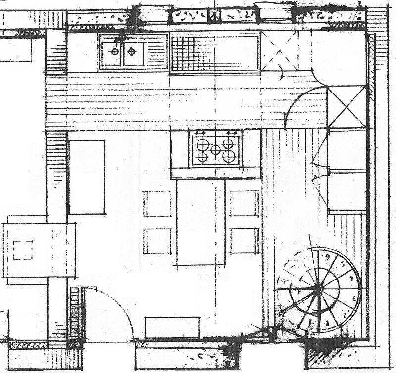 Plan de maison avec escalier