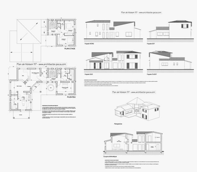 plan de maison moderne d architecte pdf ventana blog. Black Bedroom Furniture Sets. Home Design Ideas