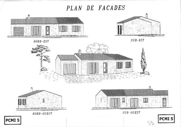 plan de coupe facade maison id es de travaux. Black Bedroom Furniture Sets. Home Design Ideas