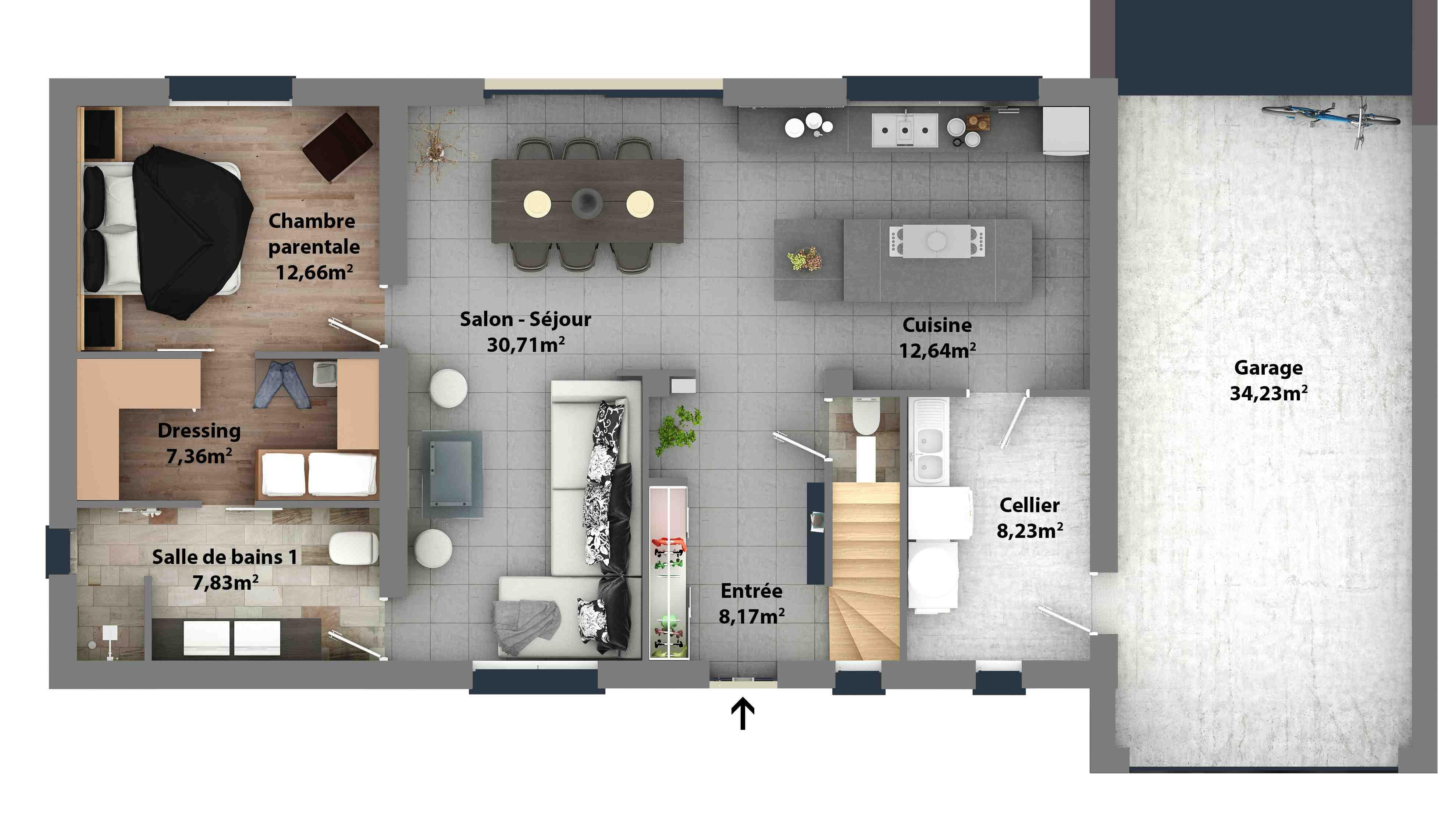 Plan de maison pla