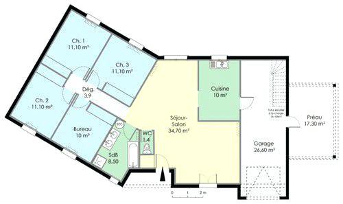 Plan de maison type californienne id es de travaux - Plan maison californienne ...