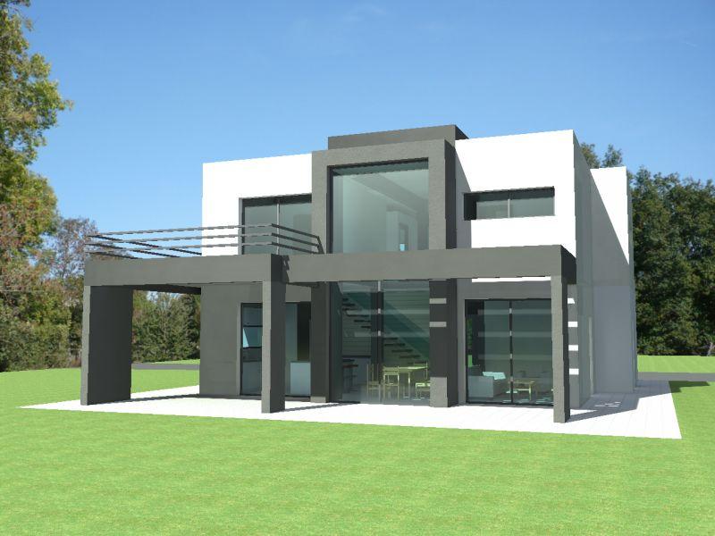 Plan maison contemporaine toit plat - Idées de travaux