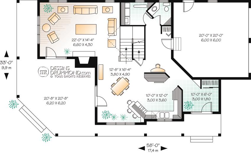 plan maison americaine 2 tages id es de travaux. Black Bedroom Furniture Sets. Home Design Ideas