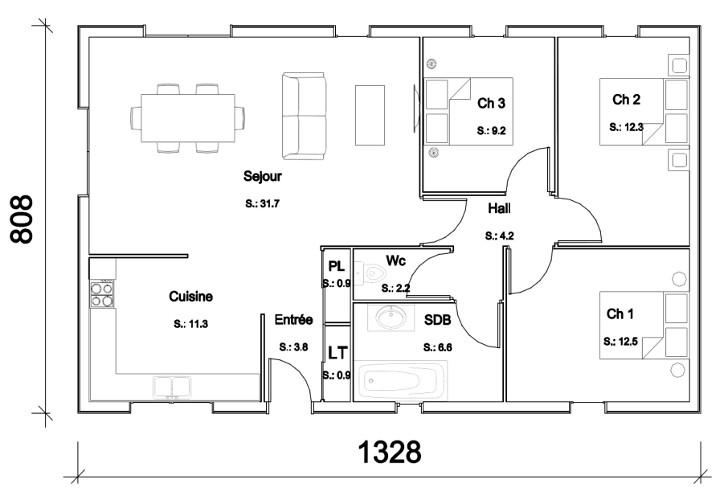 Interieur Plan Maison 150m2