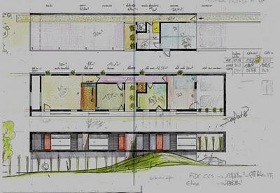 plan de maison moderne en longueur id es de travaux. Black Bedroom Furniture Sets. Home Design Ideas