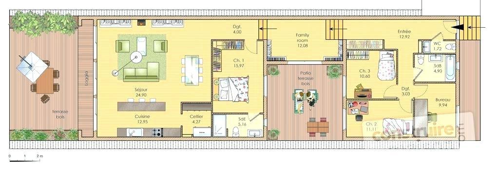 plan maison longueur ventana blog. Black Bedroom Furniture Sets. Home Design Ideas