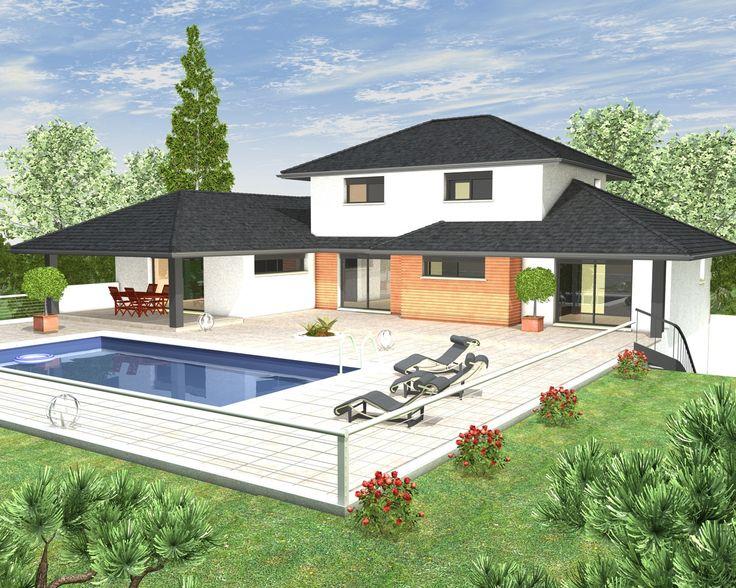 Plan maison en u a etage - Idées de travaux