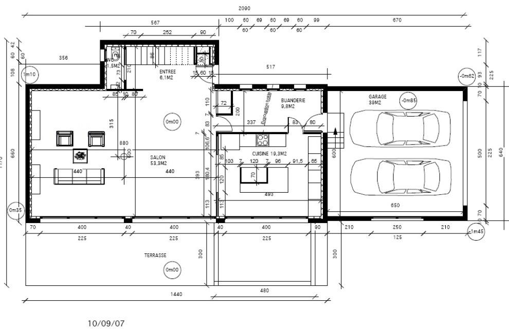 plan de maison avec dependance id es de travaux. Black Bedroom Furniture Sets. Home Design Ideas