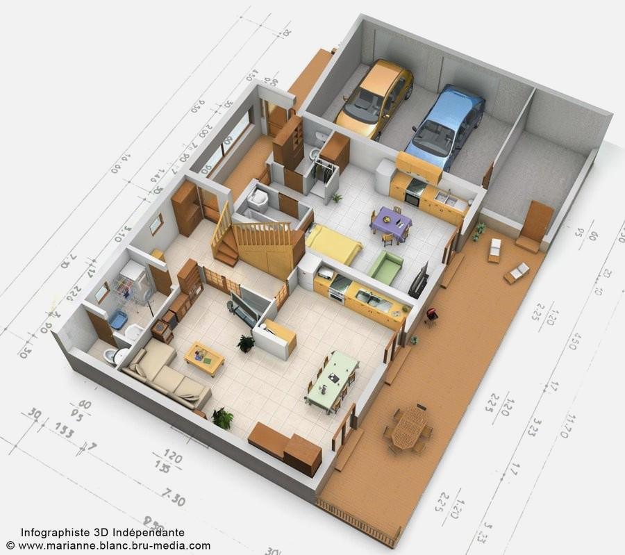 Plan de maison architecte 3d - Idées de travaux