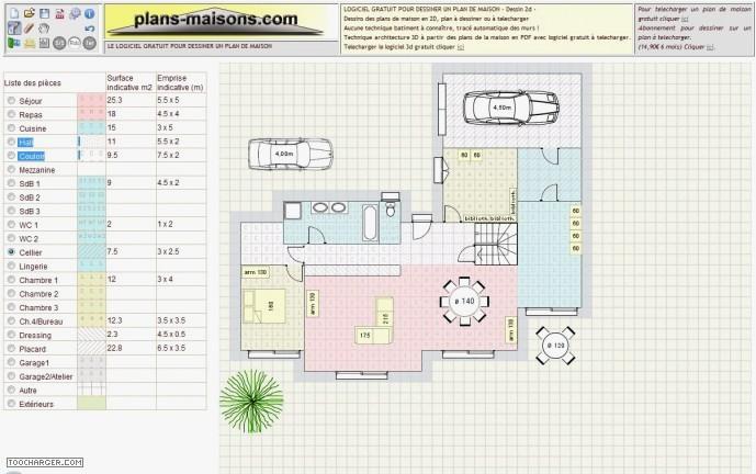logiciel gratuit pour faire plan de maison sur mac