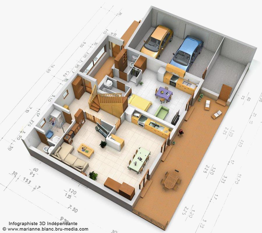 Plan 3d Maison Gratuit Français Idées De Travaux