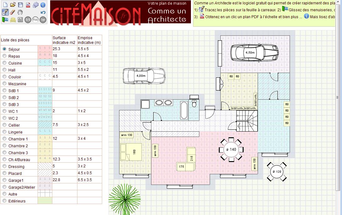 Logiciel gratuit pour créer plan de maison - Idées de travaux