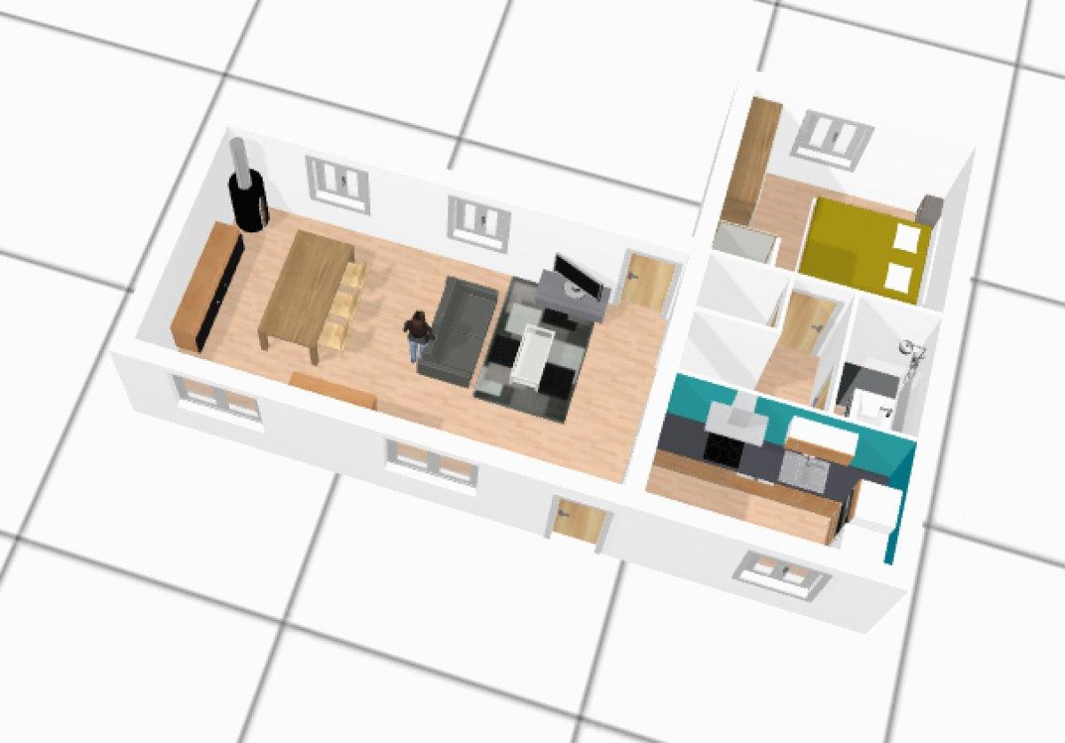 Logiciel plan 3d gratuit dessiner votre plan de maison 3d id es de travaux - Logiciel gratuit plan maison 3d ...