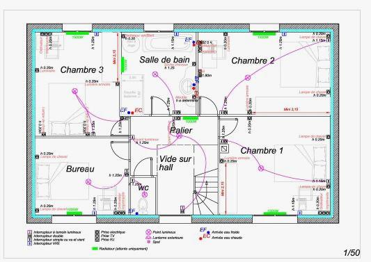 Logiciel plan de maison electrique - Idées de travaux