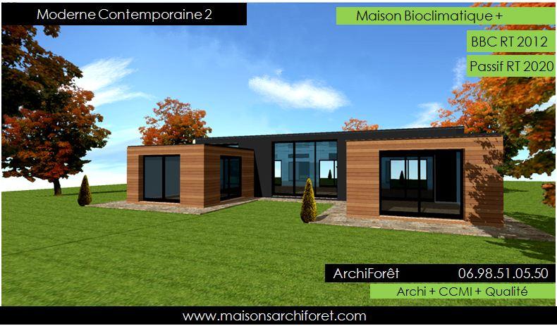 Plan de maison moderne avec patio - Idées de travaux