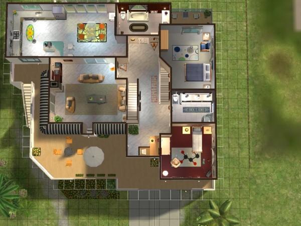 Plan de maison de luxe sims