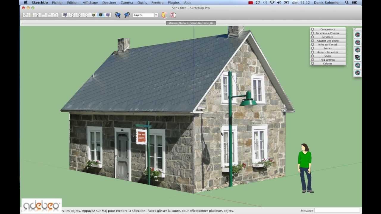 Faire le plan de sa maison avec sketchup - Idées de travaux