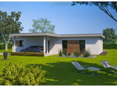 Plan maison plain pied 2 chambres toit plat