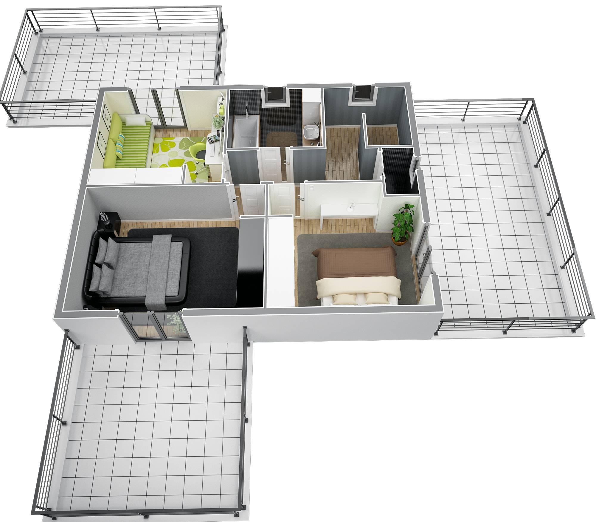 Plan de maison de 130m2 a etage id es de travaux - Maison de 130m2 ...