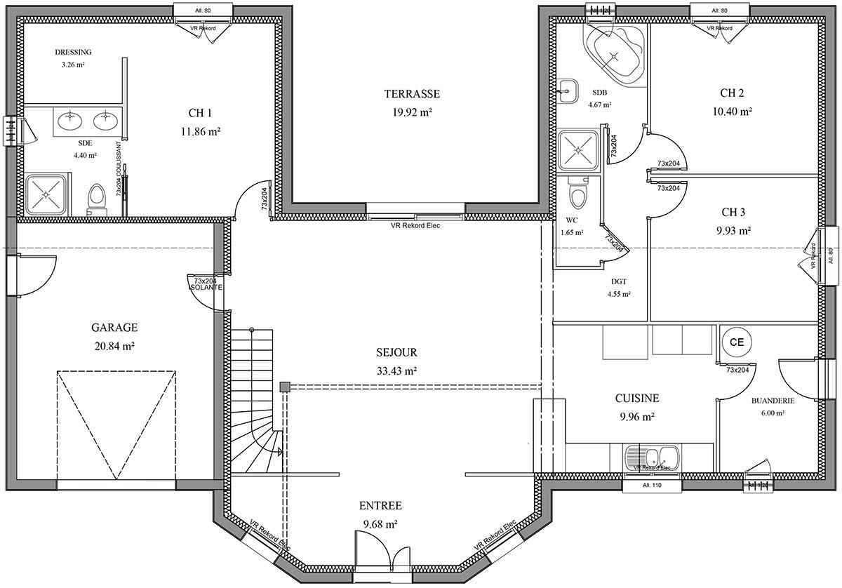 Plan de construction maison moderne gratuit - Idées de travaux