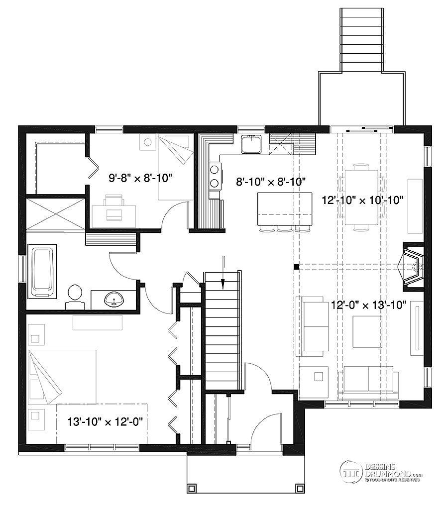 Prix et plan de maison id es de travaux - Plan de maison simple ...