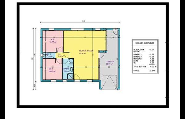 Plan maison 2 chambres mezzanine