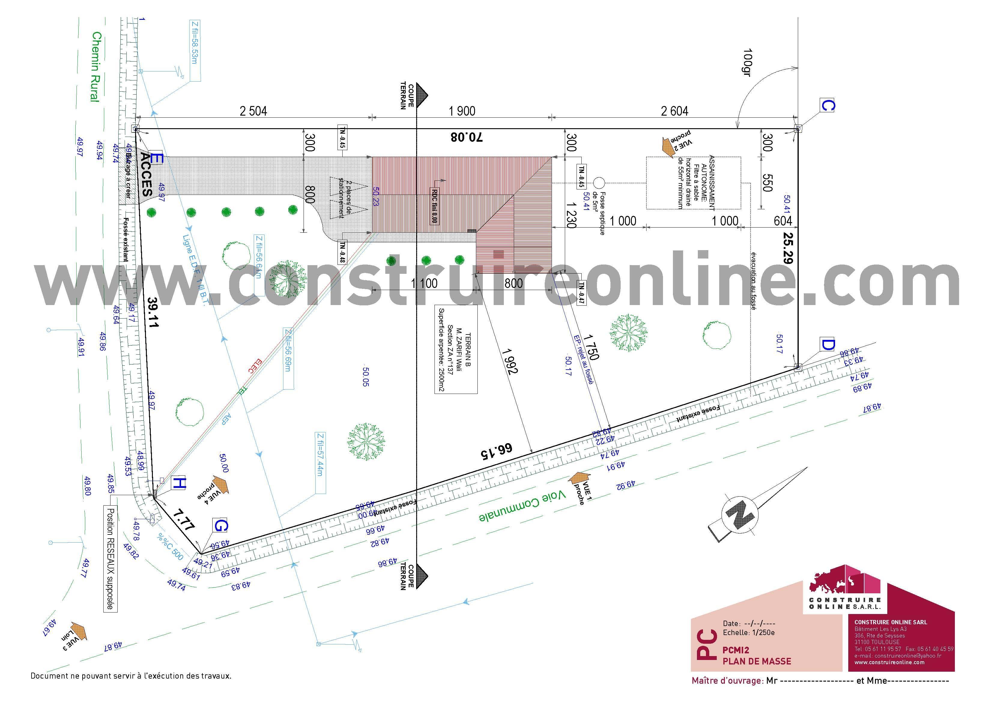 Plan de masse permis de construire maison individuelle - Plan de masse maison individuelle ...