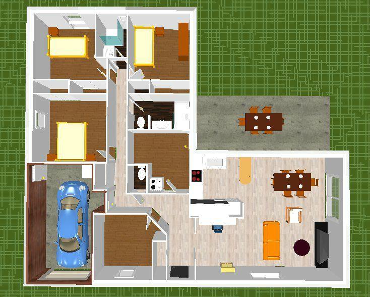 Plan 3d Maison Mitoyenne Idees De Travaux