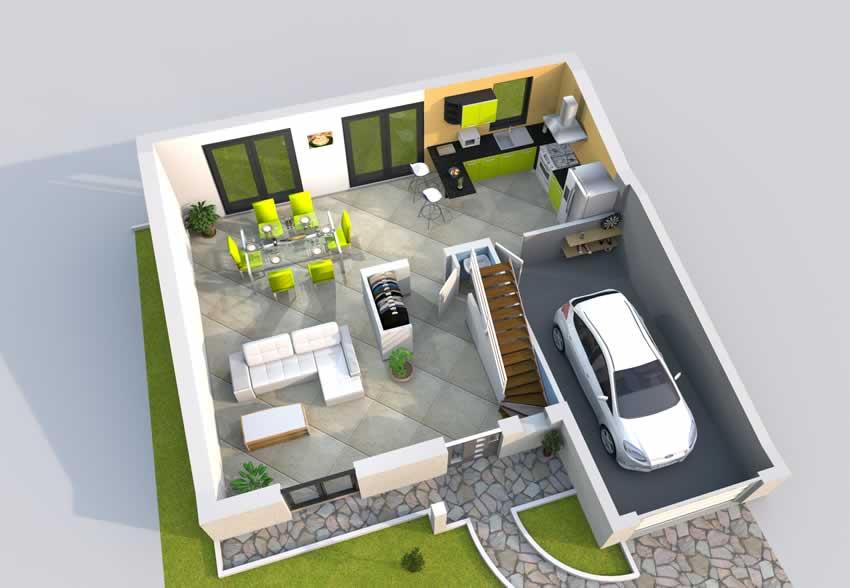 Plan De Maison 120m2 3d Idees De Travaux