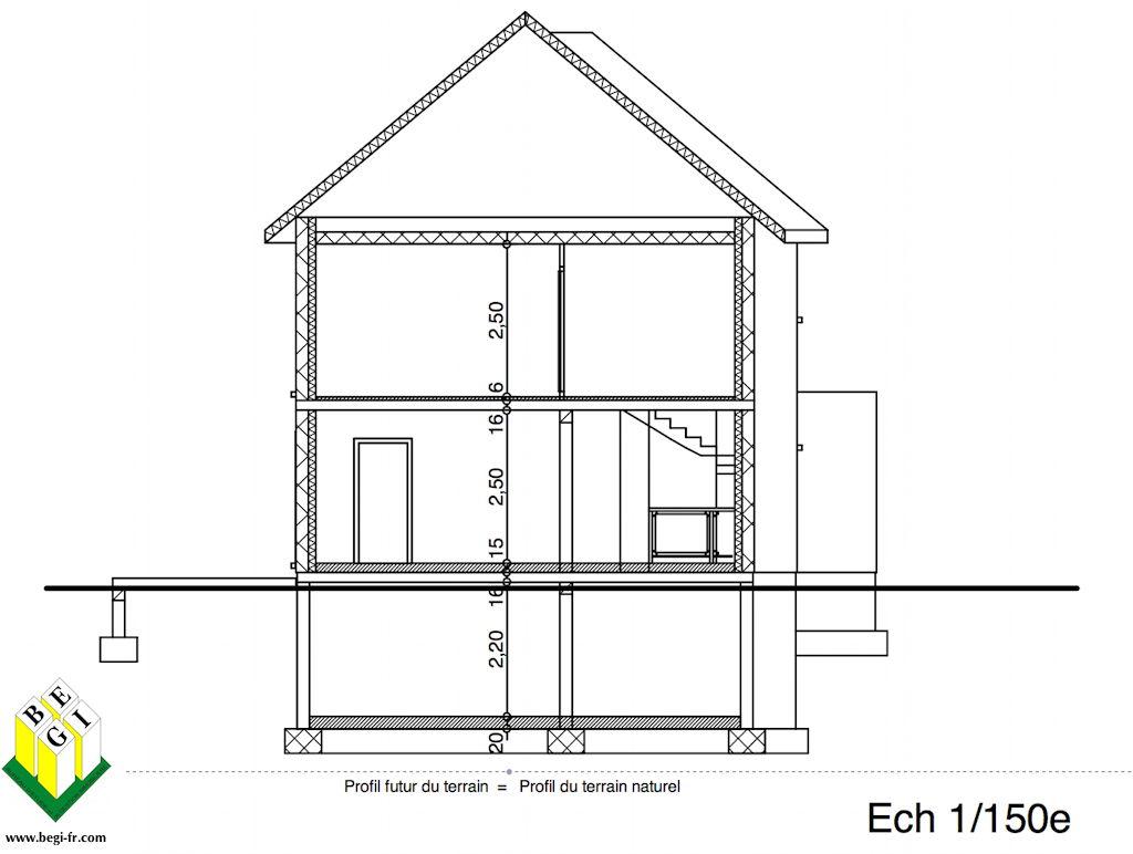 Dessiner un plan de coupe maison id es de travaux - Plan coupe facade maison ...