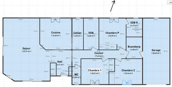 plan de maison plain pied gratuit 4 chambres id es de travaux. Black Bedroom Furniture Sets. Home Design Ideas